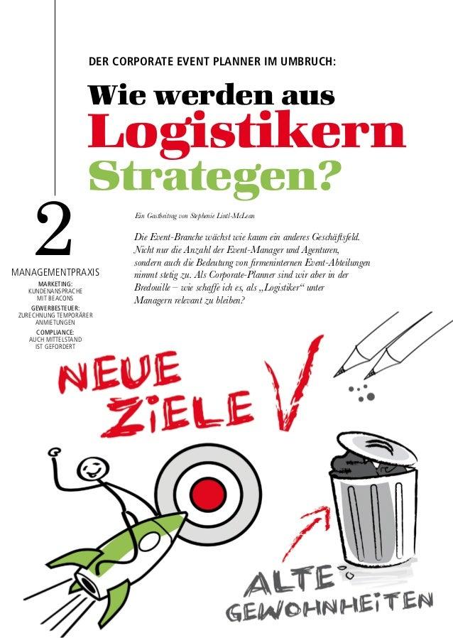 10 01/2015 Wie werden aus Logistikern Strategen? 2managementpraxis marketing: kundenansprache mit beacons gewerbesteuer: z...