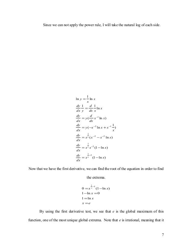 Math extended essay