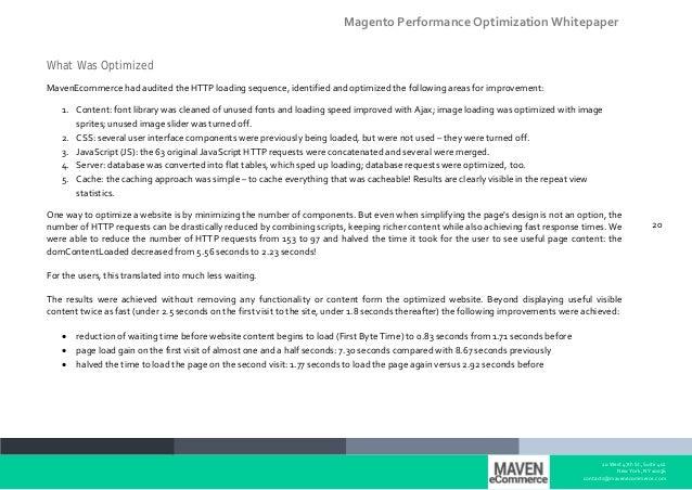 Magento Optimization Whitepaper