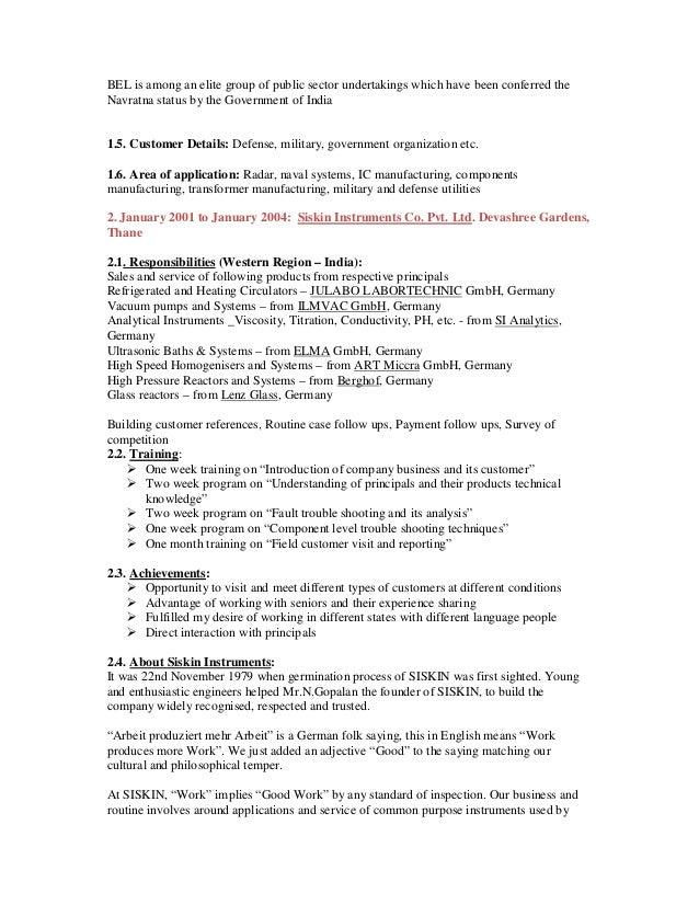 resume self
