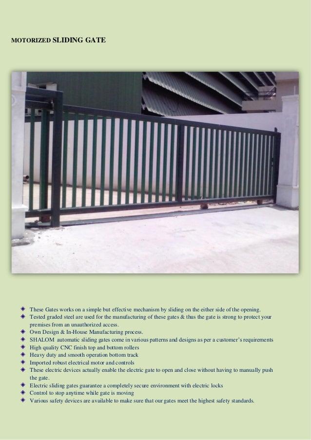 2 motorized sliding gate