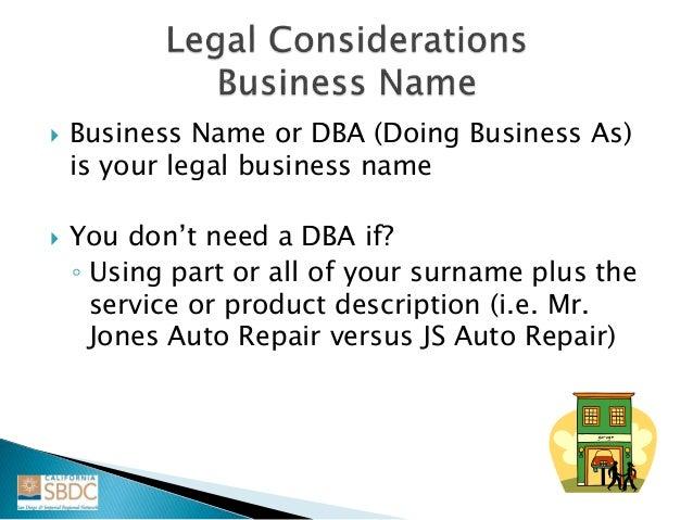 Fictitious business description