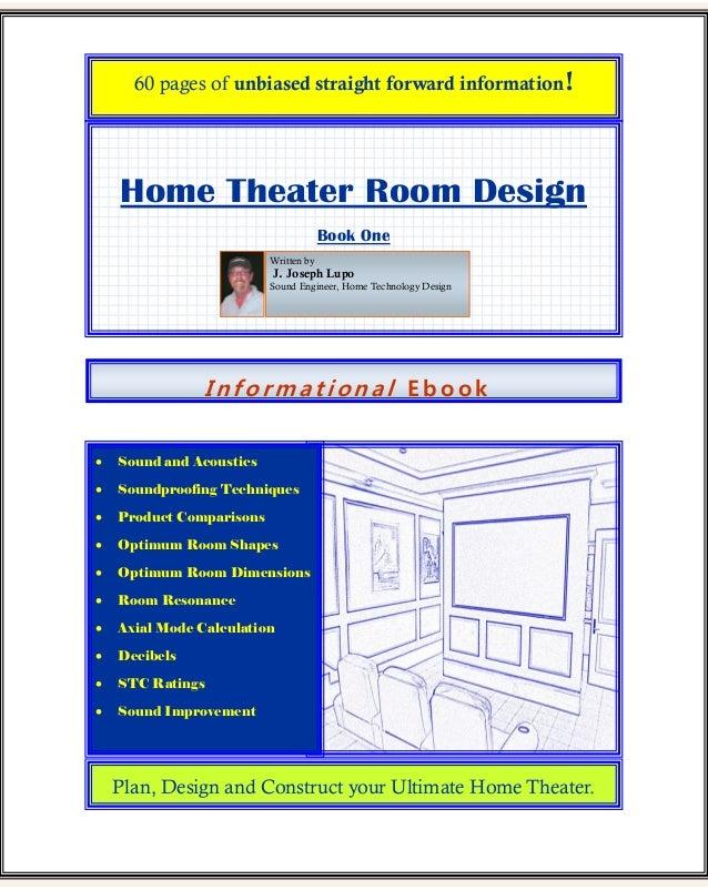 I N F Or Ma T I On A L E B O O K Home Theater Room Design Book One ...