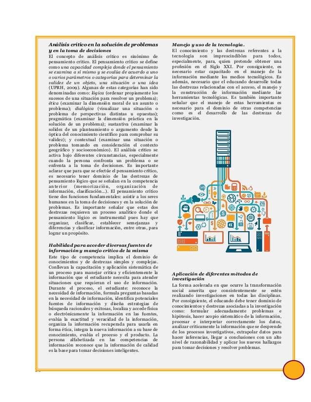 10 Análisis crítico en la solución de problemas y en la toma de decisiones El concepto de análisis crítico es sinónimo de ...