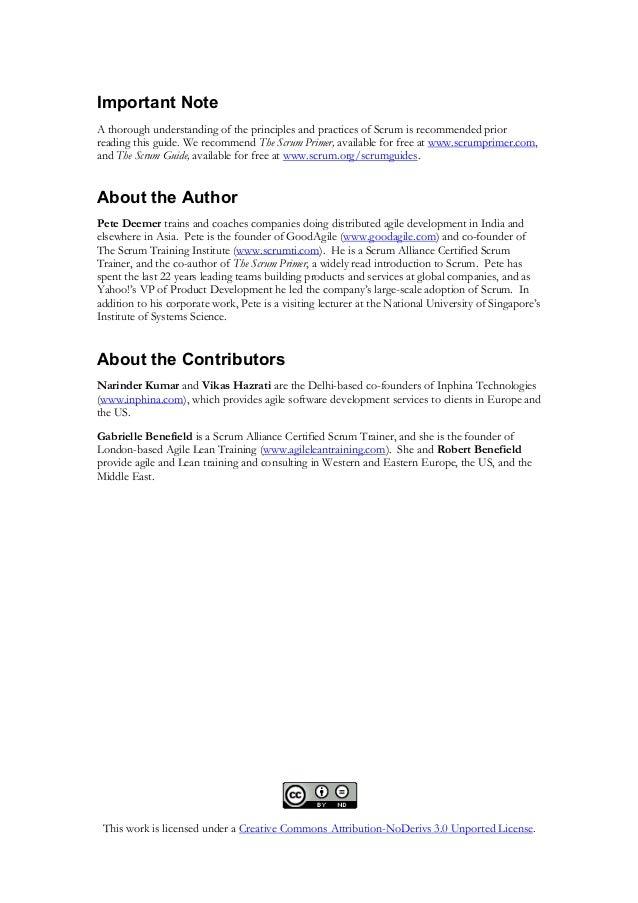 DISTRIBUTED SCRUM PRIMER PDF