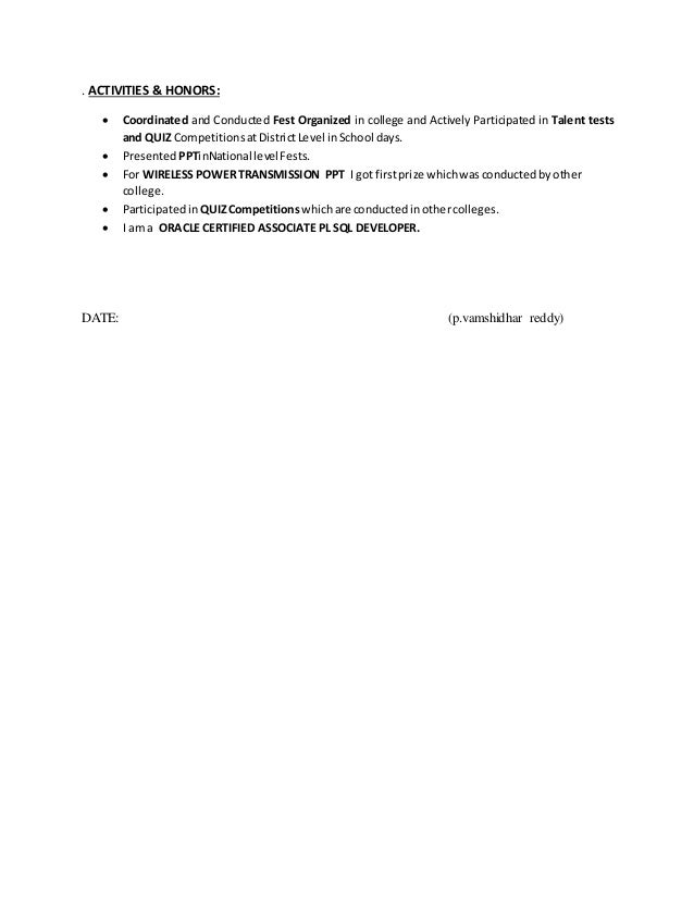pl sql resume