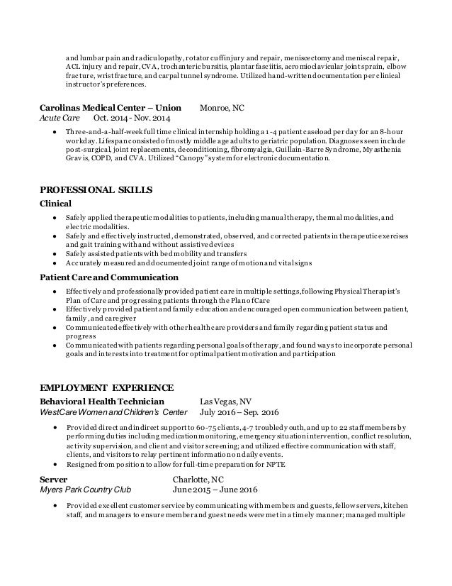 Pta Resume Pta Resume Therapy Resume Cover Letter Objective Grad Resumes  Physical Sample Physical Therapist Resume