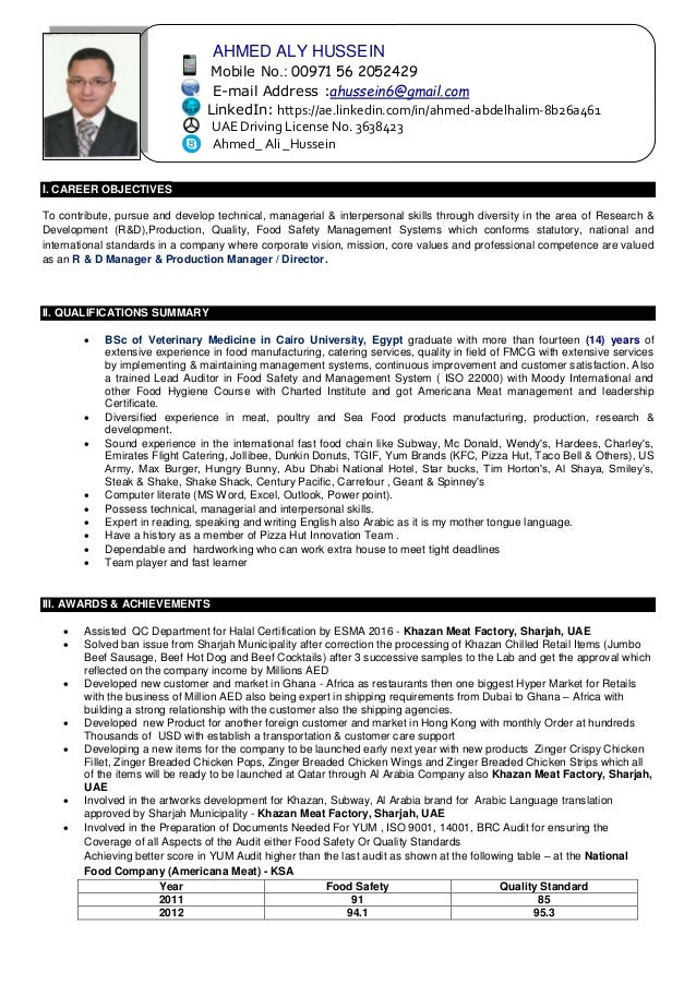 Ahmed Aly Hussein CV