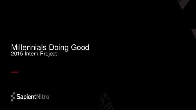 Millennials Doing Good 2015 Intern Project