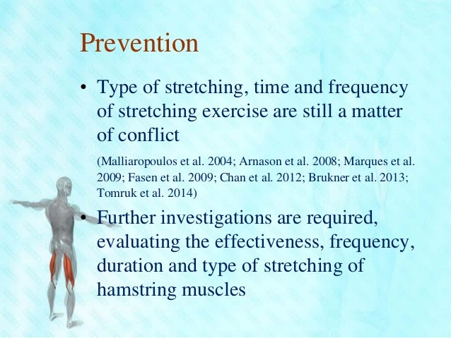 hamstring rehabilitation and injury prevention Sherry and best compared the effectiveness of two different rehabilitation protocols for acute hamstring injuries the authors analyzed the time needed to return to.