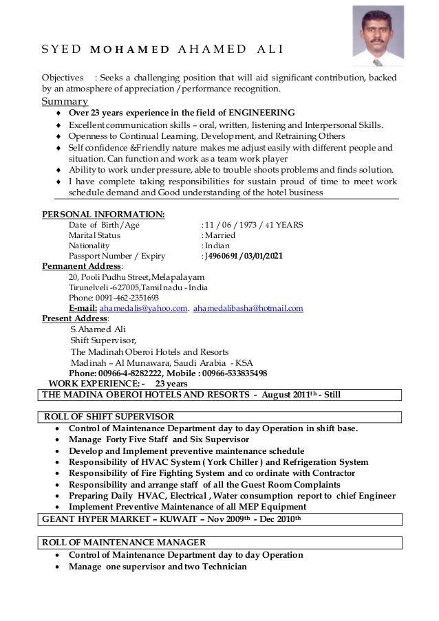Tolle Lebenslauf Hvac Wartungsingenieur Bilder - Entry Level Resume ...