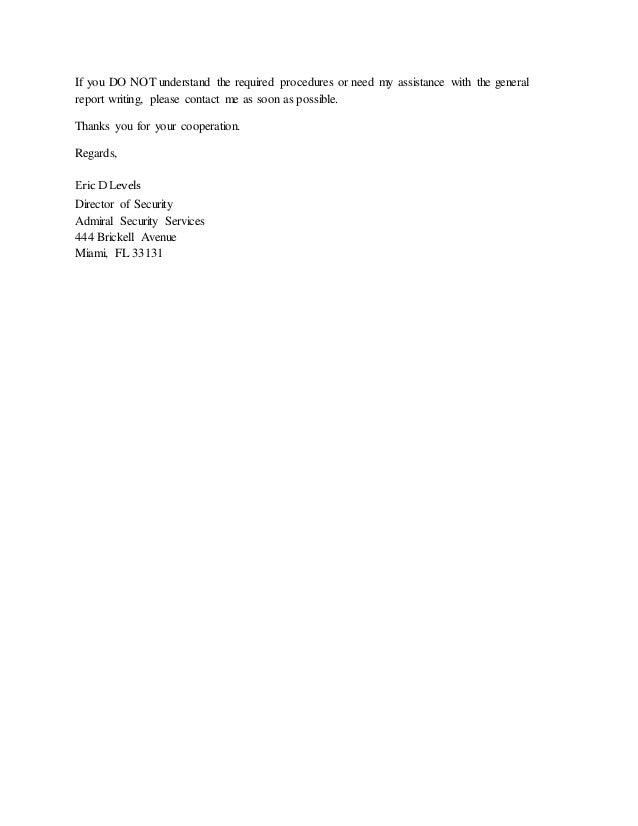 Accident Report Sample Letter from image.slidesharecdn.com