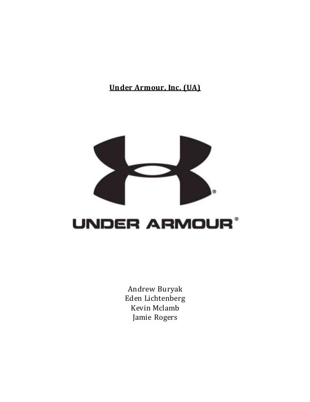 under armour strategic report The 3 biggest risks to under armour inc's business  i wrote about how i believed a 20% drop from recent highs presented a buying opportunity in under armour  management is making a strategic.