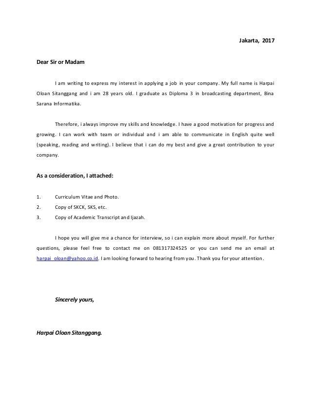 Letter For Job Application from image.slidesharecdn.com