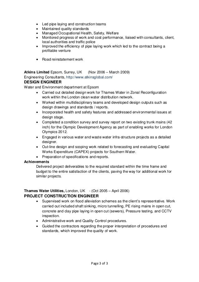 resume chris mendis civil engineer april 2016