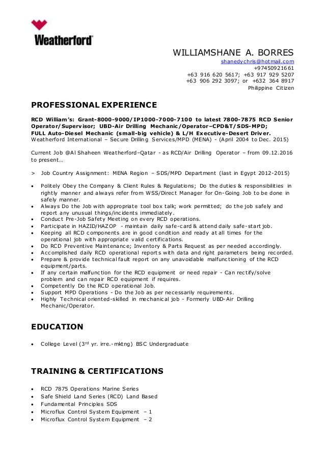 william-borres-cv-format-for-global-operations-dec-2016-1-638 Sample Curriculum Vitae For Administrator on for administrative assistant, graduate school, offer letter, medical doctor, for professional contract, for phd, for accountant partner, science research,