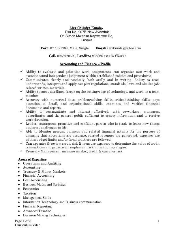 Alex Kunda Curriculum Vitae 2