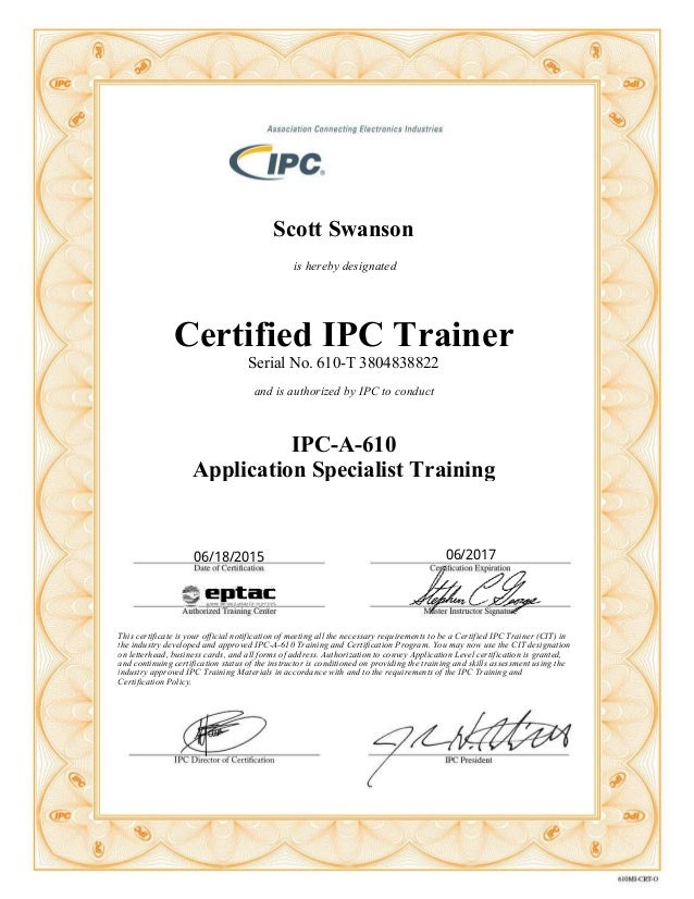 Certified Ipc Trainer