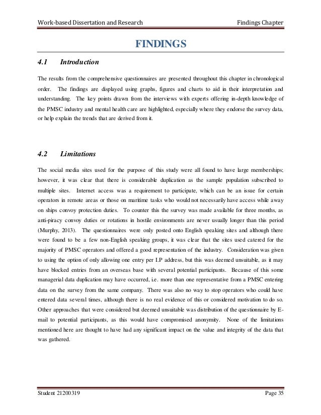 chapters of research dissertation