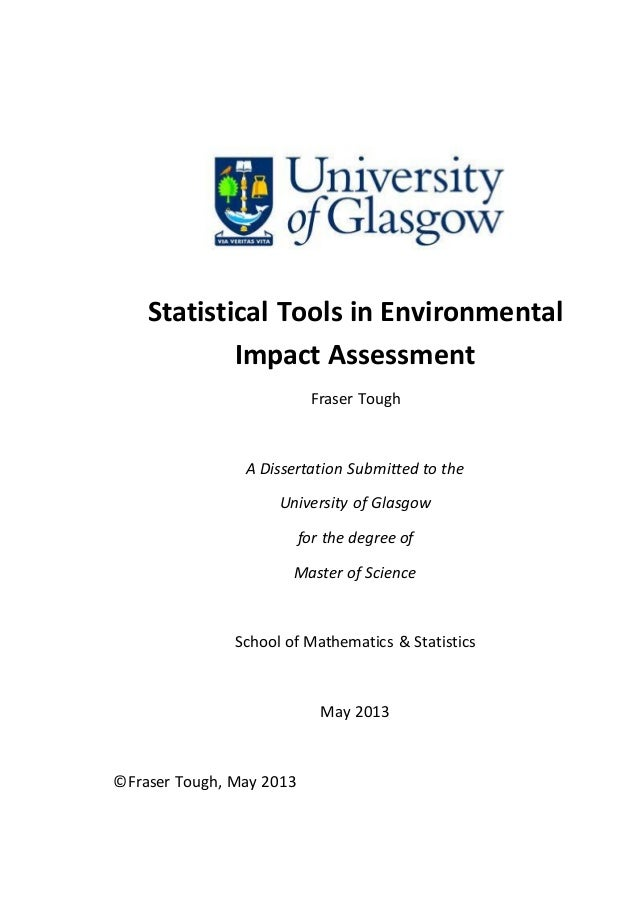 Dissertation statistical services research