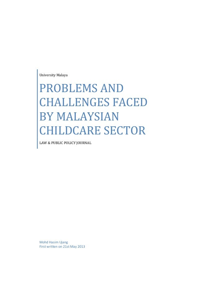fc4f7c07ca BRIEF ANALYSIS ON THE PROBLEMS AND CHALLENGES FACED BY CHILDCARE SECTOR IN  MALAYSIA