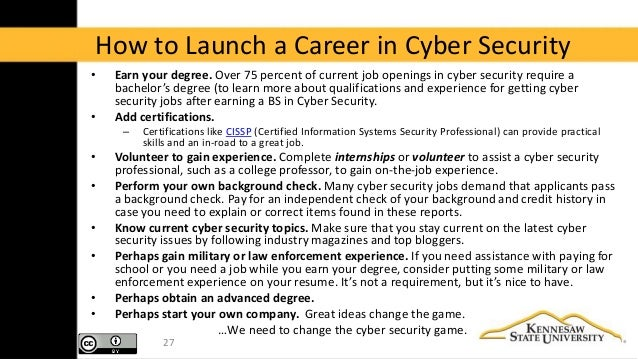 2015 Ksu So You Want To Be In Cyber Security