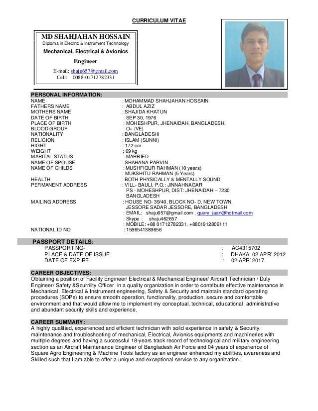 resume for mechanical engineer doc