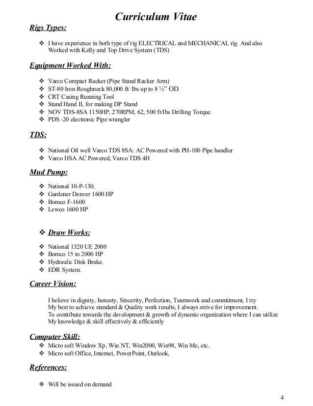Oilfield Driller Resume Samples