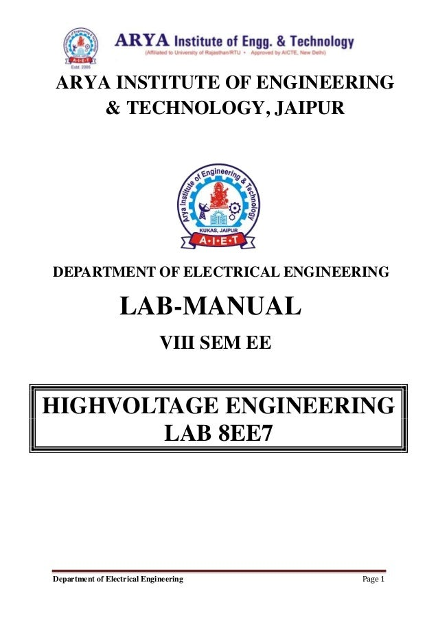 Electrical engineering lab report