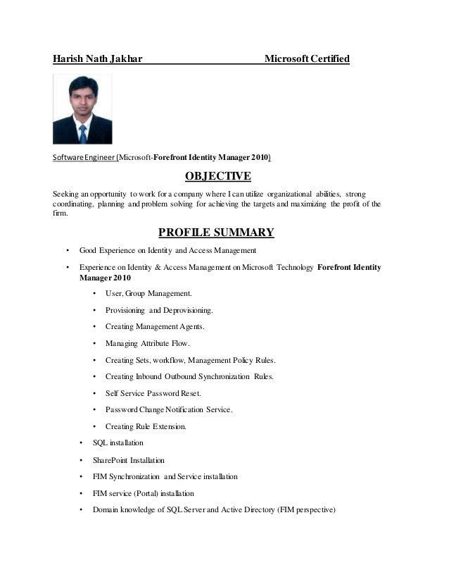 Harish Nath Jakhar CV