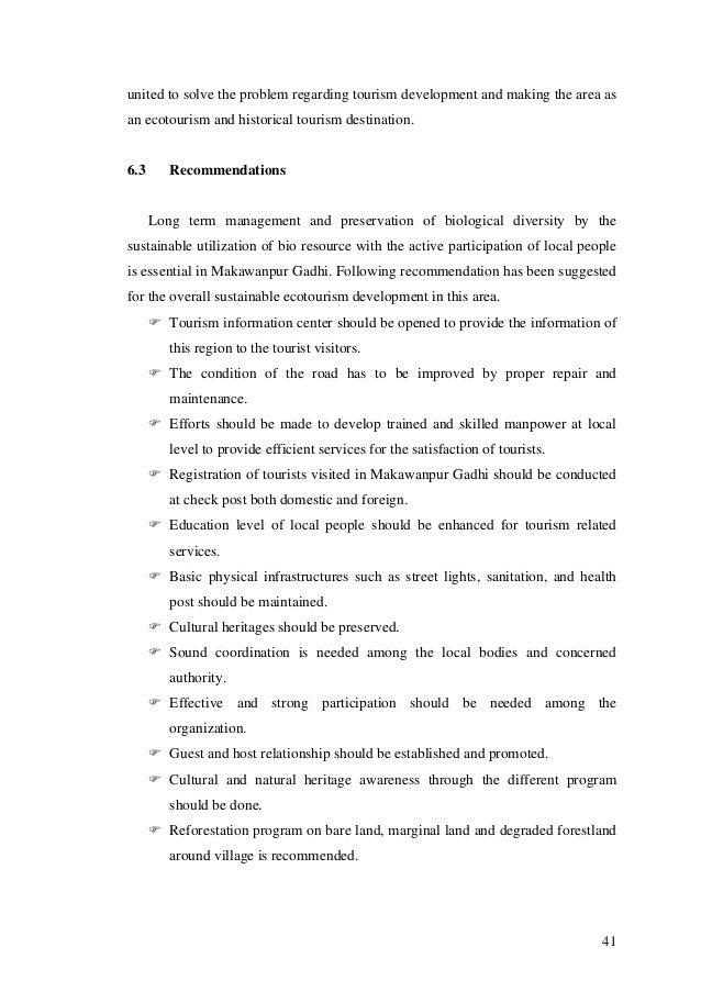 thesis of tourism development