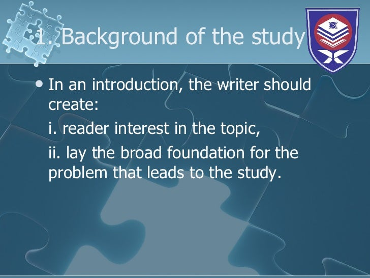 What is Background in a Research Paper? - Enago Academy