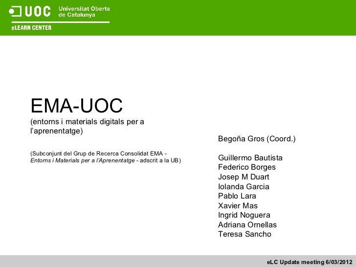 EMA-UOC(entorns i materials digitals per al'aprenentatge)                                                              Beg...