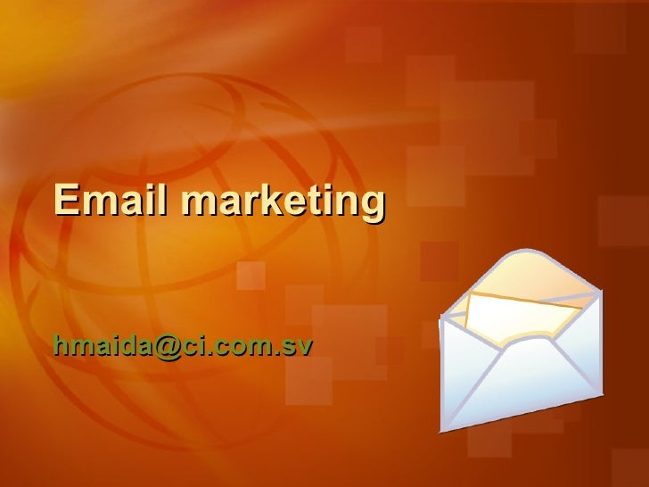 Email marketing [email_address]