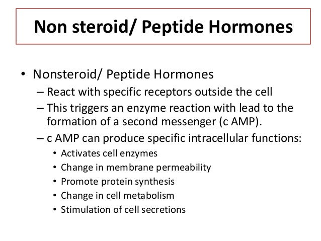 how do nonsteroid hormones act on target cells