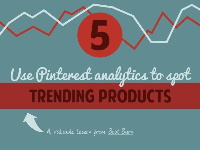 5  Use Pinterest analytics to spot  trending products  A valuable lesson from Boot Barn