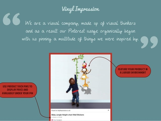 Vinyl Impression  We are a visual company, made up of visual thinkers  and as a result our Pinterest usage organically beg...
