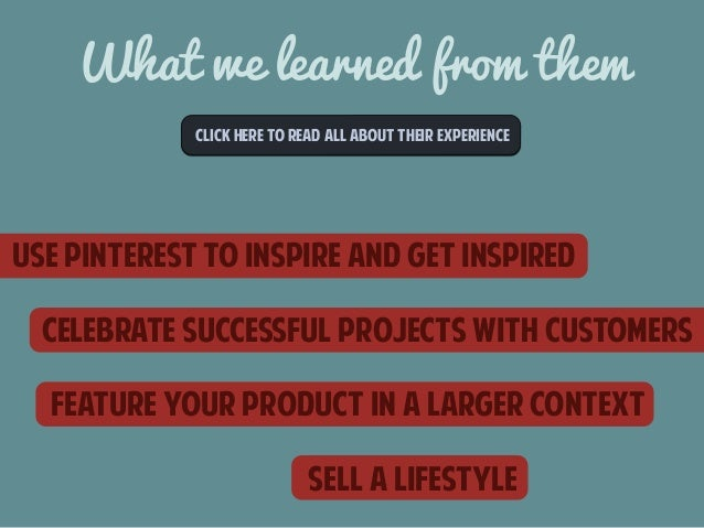 What we learned from them  CLICk here to read all about their experience  Use pinterest to inspire and get inspired  celeb...