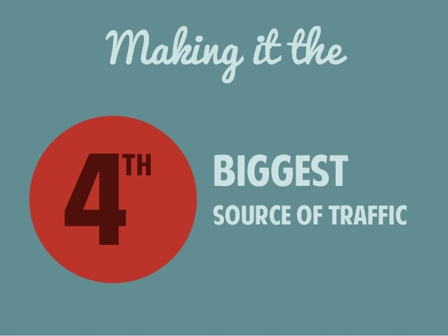 Making it the  4th biggest  source of traffic