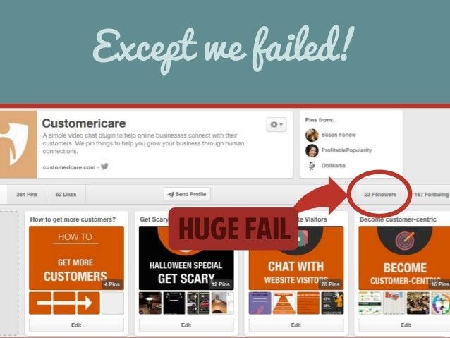 Except we failed!  HUGE FAIL