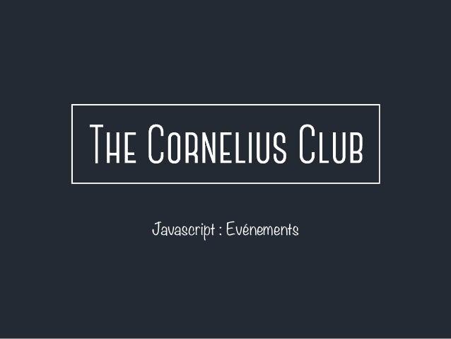 Javascript : Evénements