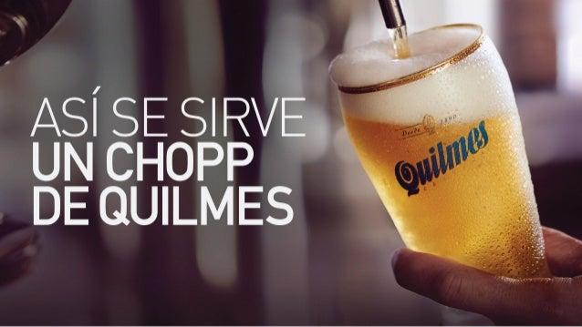 Asi de sirve un Chopp de Quilmes
