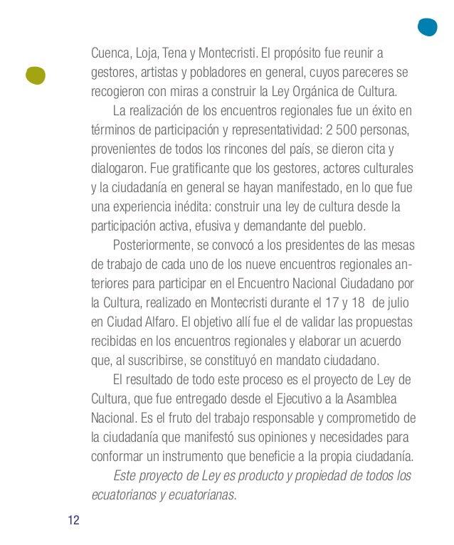 20 Elementos contemplados en la Ley El diagnóstico de la gestión pública en el ámbito cultural evidenció un escenario caót...