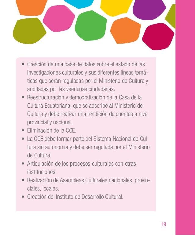 29 Planteamientos de la ciudadanía • Creación de espacios públicos para expresión cultural. • Formación de un mercado de c...