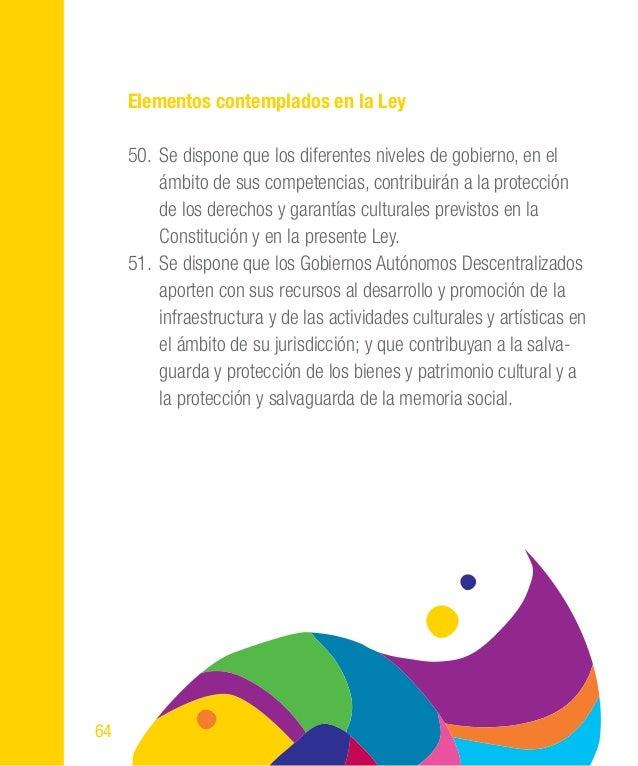 85 • Creación de políticas culturales en producción cultural. • Sistema de becas para gestores cultu- rales y artistas. • ...