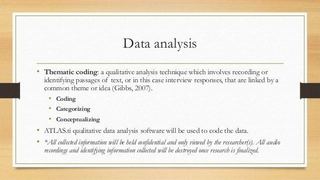 Coding interviews for dissertation
