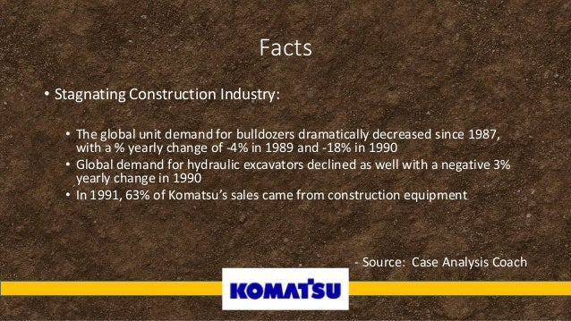 komatsu ltd project g s globalization case analysis Komatsu ltd: project gs globalization executive summary komatsu ltd is operating in challenging market conditions that are made more complicated by the centralized production and key issues identified in the case are komatsu's a case study high risk family assessment.