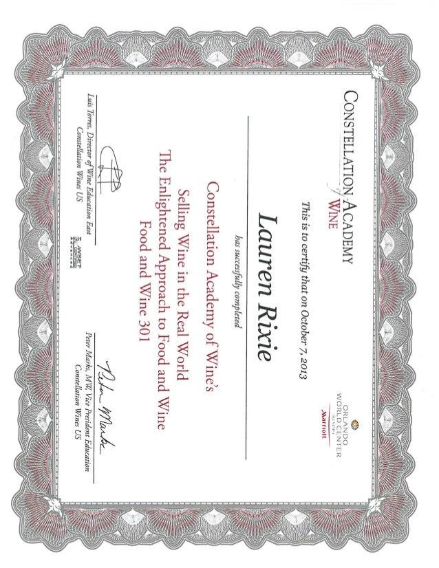 Wine Certification