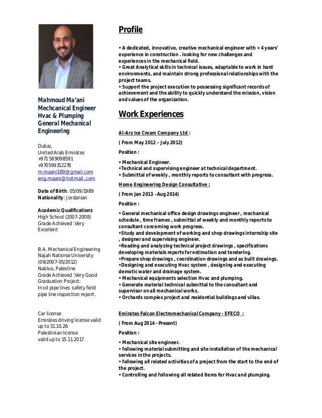 Mahmoud Ma'ani Mechcanical Engineer Hvac & Plumping General Mechanical Engineering Dubai, United Arab Emirates +971 569098...