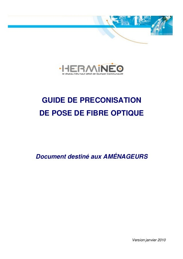 GUIDE DE PRECONISATIONDE POSE DE FIBRE OPTIQUEDocument destiné aux AMÉNAGEURS                          Version janvier 2010